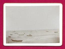 Photographie Ancienne Sur Carton - Arcachon - Vue Sur Le Bassin - Embarcations - Orte