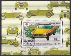 Ajman 1971 Bf. 324A Automobile Car Automobilismo Honda S 800 Perf. - Ajman