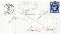 Nord - LAC Affr N° 14Aa Obl PC 1089 - C 15 Denain - Marcophilie (Lettres)