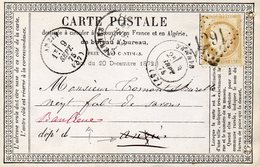 Nord - CPP Affr N° 55 Obl GC 1291 - C 17 Denain (à Voir Curieux Libellé De L'adresse) - Marcophilie (Lettres)