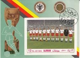 "Ajman 1969 Bf. 84A ""National-Team Deutschland"" Nazionale Tedesca Sheet Flag - Ajman"