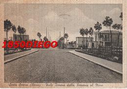 SANTA SEVERA - VIALE TIRRENO DALLA FERROVIA AL MARE F/GRANDE VIAGGIATA 1941 ANIMATA - Altri
