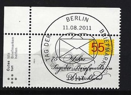 BUND Mi-Nr. 2882 Linkes, Oberes Eckrandstück Tag Der Briefmarke Gestempelt - BRD