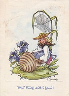 AK Frau Elfe Blumen Spinnweben - Phantasie - Werbestempel Trunkenheit Am Steuer - 1953 (45579) - Frauen