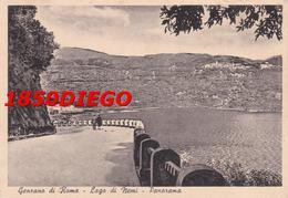 GENZANO DI ROMA - LAGO DI NEMI  - PANORAMA F/GRANDE VIAGGIATA 1950 ANIMATA - Roma