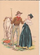 Barré & Dayer: Illustrateur E. Maudy. PROVENCE. Blason, Couple, Arlésienne, Gardian, Cheval. N° 1187 V - Personnages