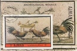 Ajman 1972 Bf. 521A Mosaici Pompei Combattimento Galli Museo Archeologico Napoli Perf CTO - Ajman