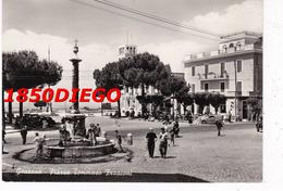 GENZANO DI ROMA - PIAZZA TOMMASO FRASCONI F/GRANDE VIAGGIATA 1955 ANIMATA - Roma (Rome)