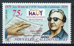 New Caledonia, Blind People, Valentin Haüy, 2019, MNH VF - Unused Stamps
