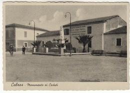 CABRAS SARDEGNA MONUMENTO AI CADUTI - CARTOLINA ORIGINALE NON SPEDITA - Nuoro