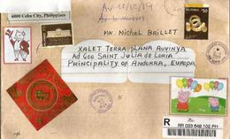 Belle Lettre RECOMMANDÉE De CEBU (Philippines), Adressée Andorra, Avec Timbre à Date Arrivée - Philippines