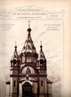 Monographie De Bâtiments Modernes N° 95 : Église Russe 12 R Daru 75008 Paris (St Alexandre Nevsky) - Architecture