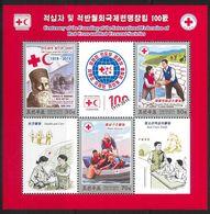 NORTH KOREA 2019 CENTENARY OF FOUNDING INTERNATIONAL FEDERATION OF RED CROSS SHEETLET - Rotes Kreuz