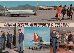 AEROPORTO-AEROPORT-AIRPORT-FLUGHAFEN-STRETTO-GENOVA SESTRI-ITALIA-VERA FOTOGRAFIA  NON VIAGGIATA - Aérodromes