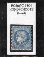 Nord - N° 60A Obl PCduGC 1804 Hondschoote - 1871-1875 Cérès