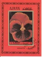 Ajman 1972 Bf. 446A Fiori Flowers Viole Violets Sheet Nuovo Perf. - Ajman