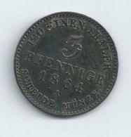 DUCHE D'ANHALT 3 PFENNIGS 1864 LEOPOLD IV - [ 1] …-1871: Altdeutschland