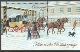 """Österreich 2019:  Block """"""""Hist.Postfahrzeuge -Eilpost"""" Postfrisch (siehe Foto) - 1945-.... 2. Republik"""