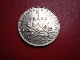 FRANCE   1  Franc   1962   -- SUP --  Semeuse - Roty - H. 1 Franc