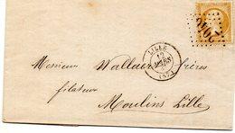 Nord - LAC (corr Incomplète) Affr N° 21 Obl GC 2046 - C 15 Lille Pour Moulins Lille (port Local) - Marcophilie (Lettres)