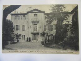 Cpa, Trés Belle Vue Animée, Montélimar (drôme), Hôtel H. Vallentin Du Cheylard, Rue Quatre Alliances - Romans Sur Isere