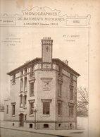 Monographie De Bâtiments Modernes N° 91 : Hôtel 45 R Santé 75014 Paris Et 82 Bd Arago 75013 Paris - Architecture