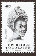 Togo Bella Bellow 650f Chanteuse Singer Imprinted 2004 Michel 3365 Mint MNH - Togo (1960-...)