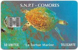 Comoros - S.N.P.T. - La Tortue Marine (Cn. C56151382), 50Units, SC7, Used - Comoren