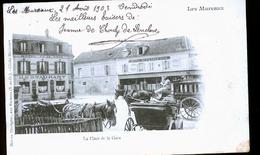 LES MUREAUX LA PLACE DE LA GARE 1900 TIRAGE - Les Mureaux