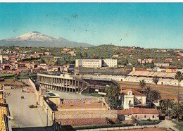 STADIO-STADE-STADIUM-ESTADIO-CAMPO SPORTIVO-SOCCER-CATANIA-ITALY-CARTOLINA VIAGGIATA IL 1-2-1960 - Fútbol