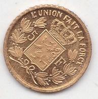 Petite Piece Or Belgique De  5  Francs A Voir - België