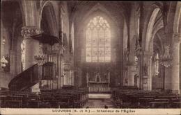 Cp Louvres Val D'Oise, Interieur De L'Eglise - Other Municipalities