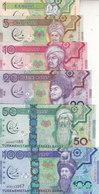 TURKMENISTAN 1 5 10 20 50 100 MANAT 2017 P-NEW COMMEMORATIVE UNC SET */* - Turkmenistan