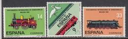 Spain 1982 - Trains, YT 2292/94, Neufs** - 1931-Heute: 2. Rep. - ... Juan Carlos I