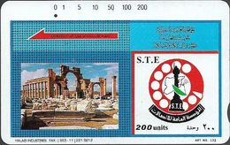 Syria - STE - Tamura - No#2 Trails Tdmr & Logo, 200U, Used - Syrie