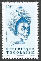 Togo Bella Bellow 125f Chanteuse Singer 2002 Imprinted Michel 2849 Mint MNH - Togo (1960-...)