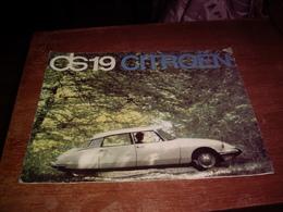 CITROEN - CATALOGUE DS 19 CITROEN 1963 - Pubblicitari