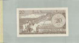 Billet De Banque Nationale Du   Rwanda , 20 Francs 1976   DEC 2019 Gerar - Rwanda