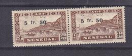 SENEGAL 192b PAIRE DOUBLE SURCHARGE LUXE NEUF SANS CHARNIERE - Senegal (1887-1944)