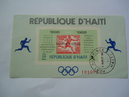 HAITI   MINT IMPERFORATE SHEET 1968 OLYMPIC  GAMES MEXICO - Ete 1968: Mexico