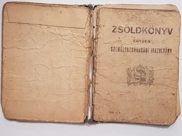 Judaica WW2 WWII Hungary Jewish Pay & Id Book 1943 Judaika Juive Juif - Historical Documents