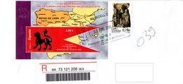 Spain 2010, Registered Letter, Leon Sheet - 2001-10 Lettres