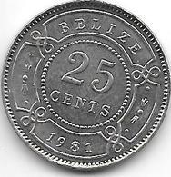 *belize 25 Cents 1981 Km 36 Bu - Belize