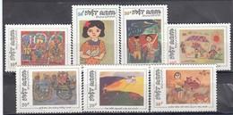 Vietnam 1988 - Dessins D'enfants, Mi-Nr. 1937/43, Dent., MNH** - Vietnam