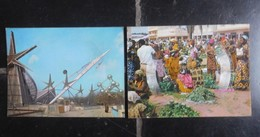 2 Cartes Postales Disques SONIM Expo58 & Marché Congo Belge - Expositions Universelles