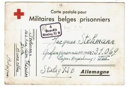 WW2 - Croix Rouge - Militaires Belges Prisonniers - Stalag XI B - Juillet 1940 - Jacques STEHMANN - 2 Scans - Guerre 1939-45