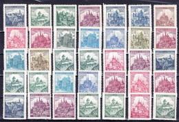 ** Boheme Et Moravie, Les Chateaux - Petit Format, 35 Timbres - Timbres