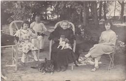 Carte Photo : Groupe De Femmes Et Fille Avec Chiens : 4 Générations - Phot : L. TALY - Romans - Drome - - Photographie