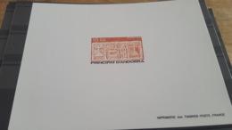 LOT 483052 TIMBRE DE  ANDORRE NEUF**  EPREUVE DE LUXE - Colecciones