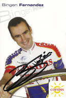 CARTE CYCLISME BINGEN FERNANDEZ SIGNEE TEAM COFIDIS 2005 - Cycling